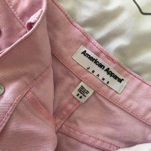 Baby Pink American Apparel High Waist Shorts